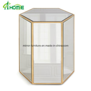 Living Room Glass Mirror Top End Table Coffee Table Wholesale Table pictures & photos