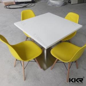 Customized Artificial Quartz Top Dining Table for Mcdonald pictures & photos