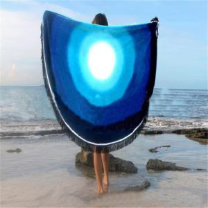 China Supplier Hot Sale 100% Cotton Velour/Terry Round Beach Towel pictures & photos