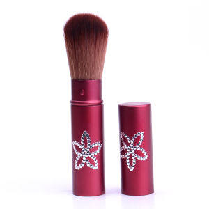 High Quality with Synthetic Hair Aluminium Tube Retractable Powder/Blush/Face/Eyebrow Cosmetics Makeup Brush pictures & photos