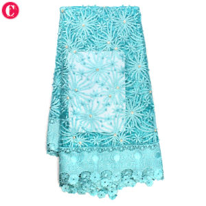 Popular Design 3D Flower Tulle Lace Fabric pictures & photos