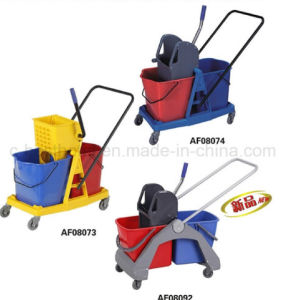 Side-Press Double Mop Wringer Trolley pictures & photos