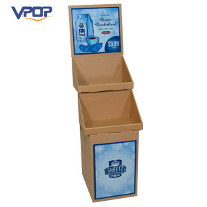 Custom 2 Layer Cardboard Carton Display Stand for Party Drinks pictures & photos