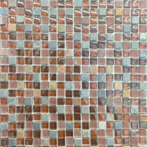 "American Style 1X1"" Glass and Stone Wall Mosaic (M815099) pictures & photos"