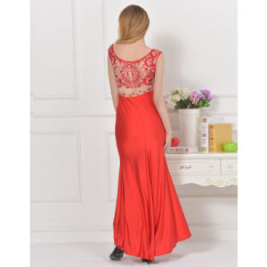 Elegant New Lace Back High Quality Evening Dress pictures & photos