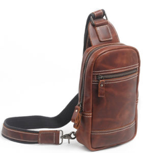 Red Swan Fashion Designer Leather Sling Man Chest Bag (RS-2028) pictures & photos