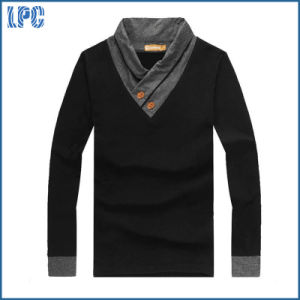 Custom Brand Personality V Collar Fashion Youth Long Sleeve T Shirt pictures & photos