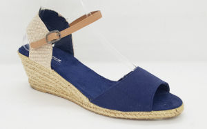 Women′s Canvas Espadrille Wedge Fashion Sandals