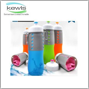 Silicone 650ml Plastic Sport Water Bottle for Sports pictures & photos