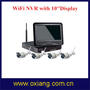 4 Channel IP Camera NVR WiFi Kit WiFi Camera Full HD Display Screen NVR pictures & photos