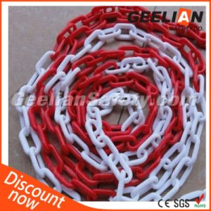 Different Size Decorative Red and White Chain Plastic Warning Barricade Chain for Connection pictures & photos