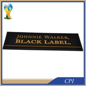 Custom Embossed Logo Soft PVC Bar Mat for Sale pictures & photos
