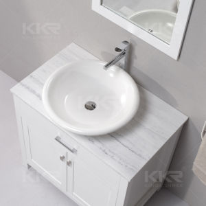 Semi-Glossy Bathroom Solid Surface Above Counter Basin pictures & photos
