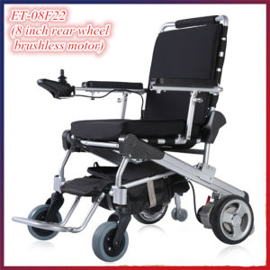 Golden Motor 8′′, 10′′, 12′′e-Throne Brushless Folding Wheelchair /Electric Foldable Wheelchair/Portable Electric Wheelchair for Sale pictures & photos