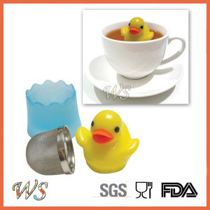 Ws-If021 Floating Duckie Tea Infuser with Stainless Steel and PP Material Tea Strainer pictures & photos