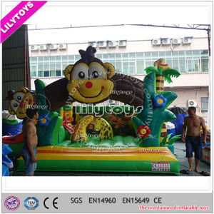Lilytoys Inflatable Bouncing House with Slide for Sale -- 0.55 mm PVC pictures & photos