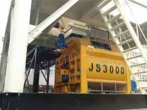 Twin Shaft Compulsive Concrete Cement Machine Mixer Js3000 pictures & photos