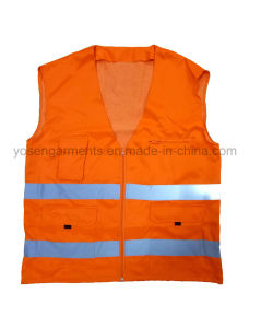 Polyester Body Warmer High Visibility Reflective Vest pictures & photos