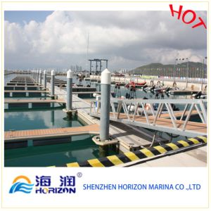 Hot Sale Plastic White Pile Cap Floating Dock pictures & photos