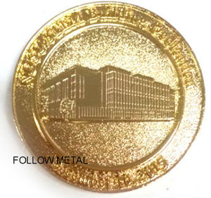 Souvenir Collection Coin with House Logo with Gold Plating