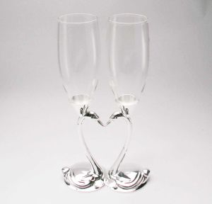 Unique Wedding Gift Silver Plated Swan Champange Toasting Flutes pictures & photos
