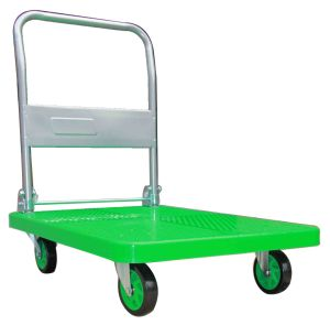 150 Kg Apple Green Plastic Platform Foldable Hand Truck pictures & photos