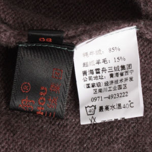 Gn1215 Yak and Wool Blended Women′s Knitted Pullover pictures & photos