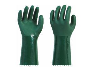 PVC DIP Plastic Gloves Work Gloves 966-27 966-30 pictures & photos