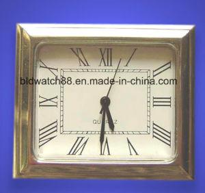 Mini Clock Square Case Quartz Clock Inserts with Japan Movement pictures & photos