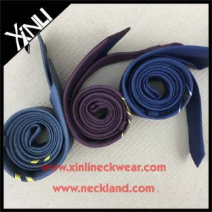 100% Handmade Mens Skinny Custom Jacquard Woven Linen Necktie pictures & photos