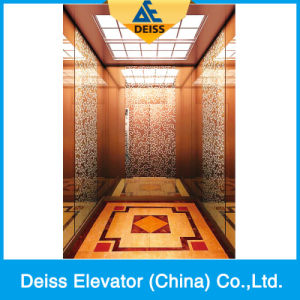Vvvf Mrl Villa Residential Passenger Home Lift with Etching Decoration pictures & photos