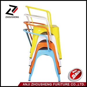 Anji Industrial Metal Restaurant Cafe Chair with Armrest Optional Colors Zs-T-08 pictures & photos