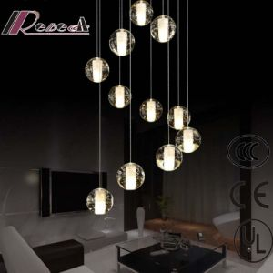Solid Bubble Crystal Clear Glass Balls Project Chandelier pictures & photos