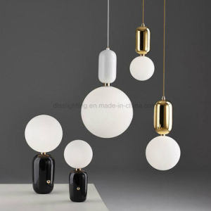 2017 Hotsale Pendant Lamp Glass and Metal Handing Pendant Lighting for Project pictures & photos