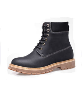Fashion Slip-on Matte Leather Military Boot pictures & photos