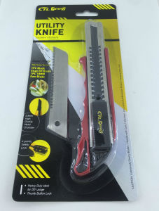2017 Newest 18mm Utility Cutter Knife with Mini Saw Blade pictures & photos