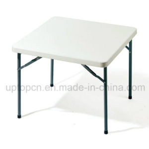 Affordable Metal Frame Square Table with White Plastic Top (SP-GT379) pictures & photos