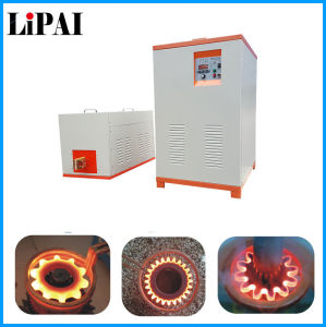 High Frequency Induction Heating Machine with Vertical Hardening Unit for Shaft Gear pictures & photos