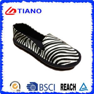 Zebra EVA Outsole Canvas Shoes (TNK35318) pictures & photos