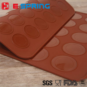 Silicone 30-Cavity Muffins/Almond Round Cakes Tools Pastry Macaron Baking Sheet Mat Large Cookie Decorating Baking Mold pictures & photos