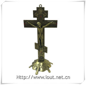 Antique Red Copper / Purple Bronze Church Decoration Metal Catholic Standing Crucifix, Handing Religious Cross (IO-ca094) pictures & photos