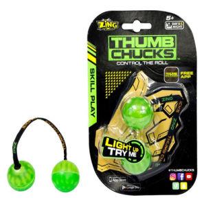 Colorful Hand Fidget Thumb Chucks LED Light Yoyo pictures & photos