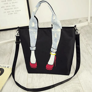China Newest Design Big Size Handbag Women Tote Shoudler Bags with Fancy Color-Collsion handle Sy8437 pictures & photos