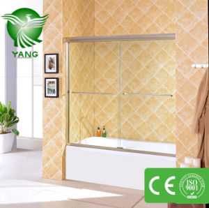 China Hot Sale Cheap Free Standing 2 Sided Sliding Tempered Glass Shower Enclosure pictures & photos