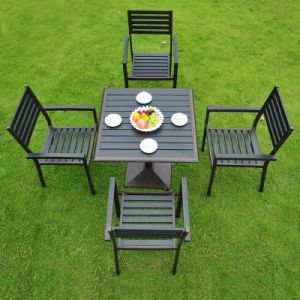Patio Outdoor Furniture Hotel Home Office Aluminum Polywood Arm Chair and Dining Table (J815) pictures & photos