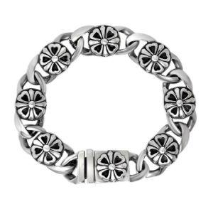 Silver Chain Bracelets Men Fashion Punk& Rock Stailess Steel Jewelry