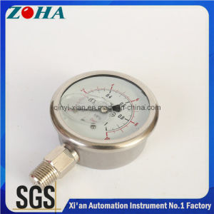 63mm Oil Filled Bottom Connection Pressure Gauge All Stainless Steel Material pictures & photos