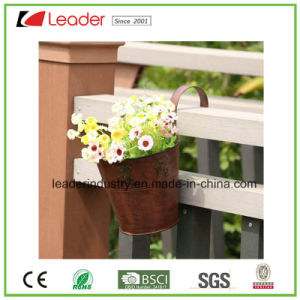 New Handmade Metal Water Lily Planter with Rusty for Outdoor Decoration pictures & photos