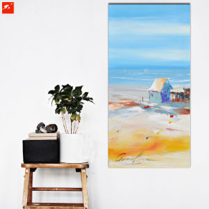 Handmade Cartoon Wall Art Seaside Skyline Oil Painting pictures & photos
