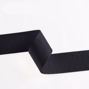 Abrasion Resistance Black Polyester/Nylon/Cotton Strap Webbing with Clips pictures & photos